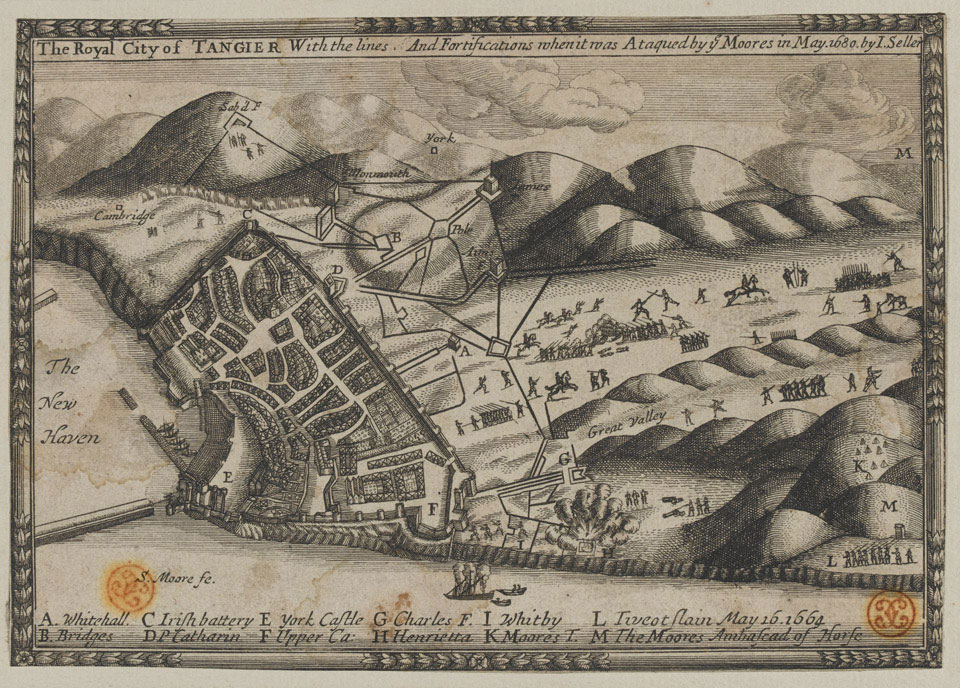 'The Royal City of Tangier with the lines and fortifications when it is was ataqued [sic] by ye Moores in May, 1680'
