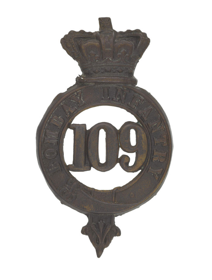 Other ranks' glengarry badge, 109th Regiment of Foot (Bombay Infantry), 1874 (c)