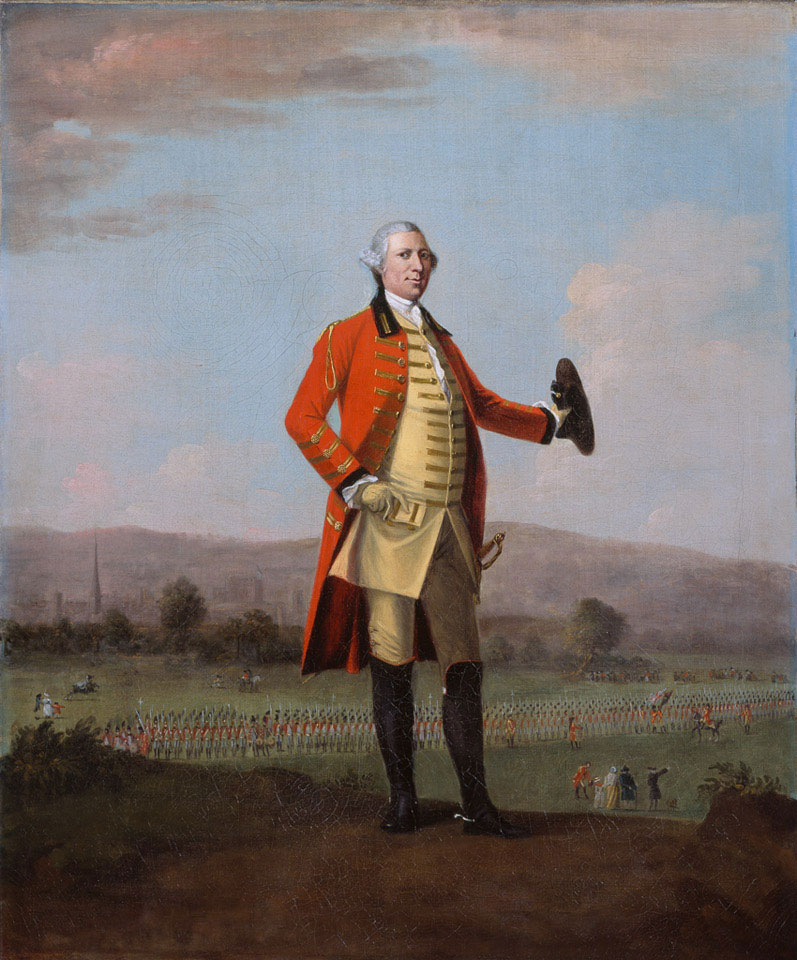 Sir Armine Wodehouse, MP, at a Review of his Regiment near Norwich, 1759 (c)