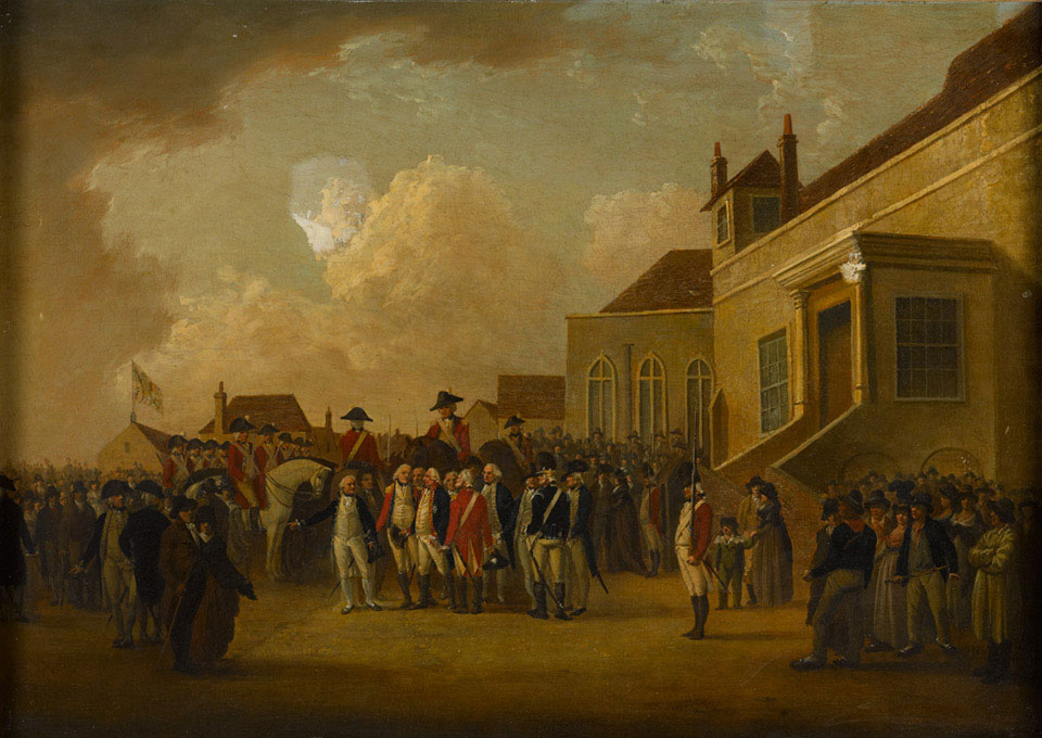 Frederick Augustus, Duke of York, reviewing troops in Flanders, 1794 (c)