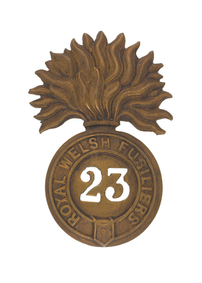 Other ranks' glengarry badge, Royal Welch Fusiliers, 1874 (c)