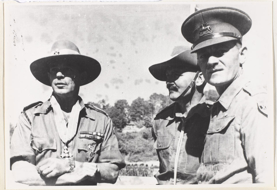 Lieutenant-General Stopford, Commander of XXXIII Corps during the Battle of Imphal, 1945
