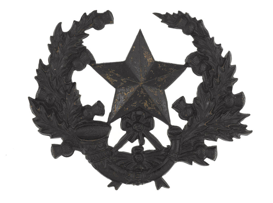 Other ranks' cap badge, The Cameronians (Scottish Rifles), 1898 (c)