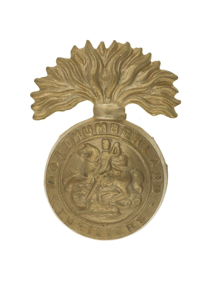 Other ranks' cap badge, The Northumberland Fusiliers, 1920 (c)