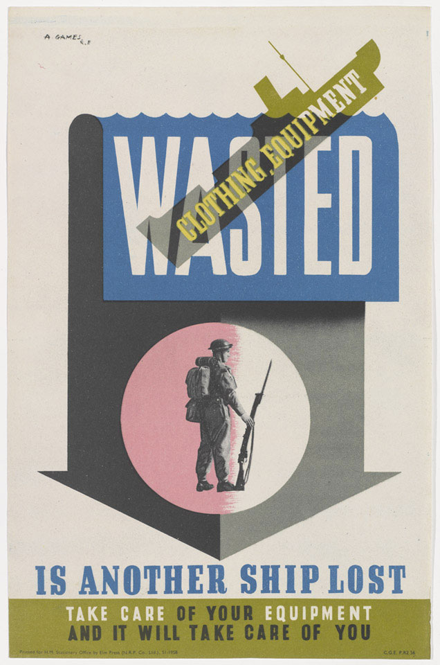 'Wasted Clothing Equipment is Another Ship Lost', 1942