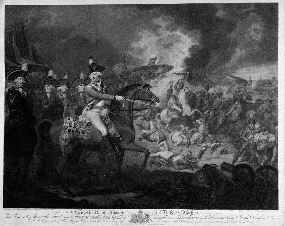 'The Memorable Attack upon the French Camp on the hills of Famars near Valenciennes 23rd May 1793'