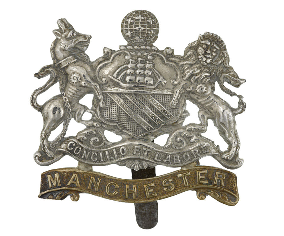 Cap badge of The Manchester Regiment, 1914 (c)