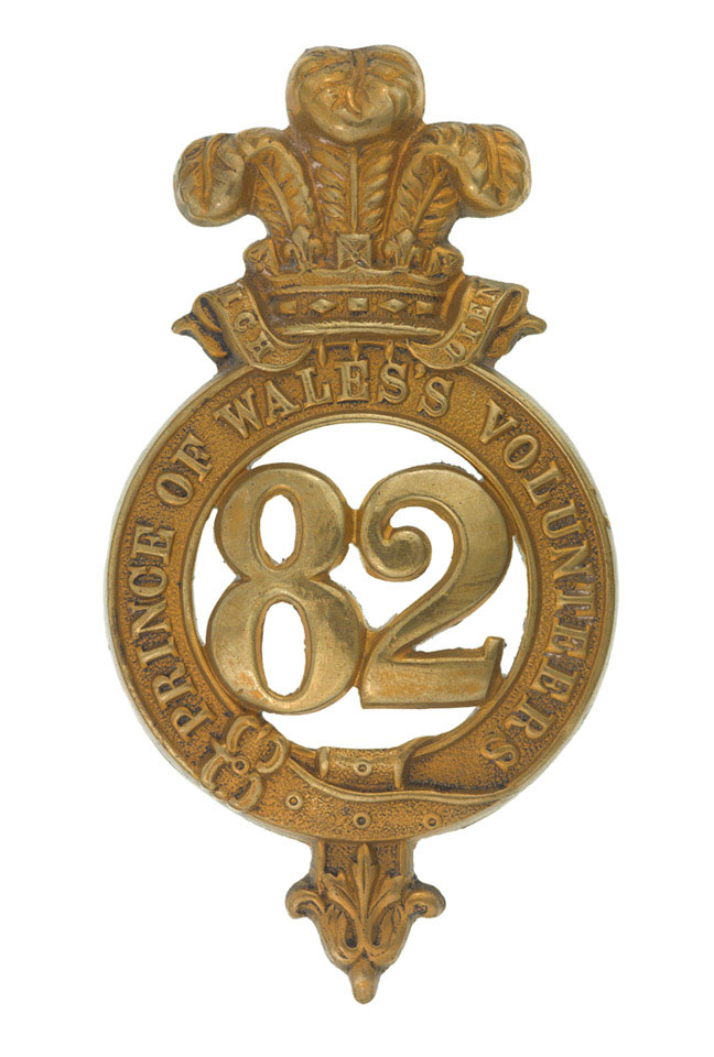Glengarry badge, other ranks, 82nd Regiment of Foot (Prince of Wales's Volunteers), 1874-1881