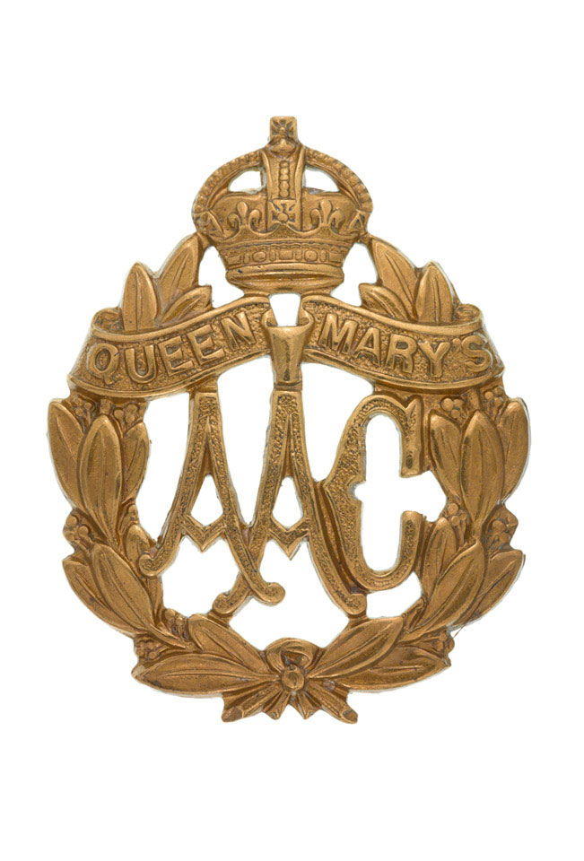 Cap badge, Queen Mary's Army Auxiliary Corps, 1918-1920