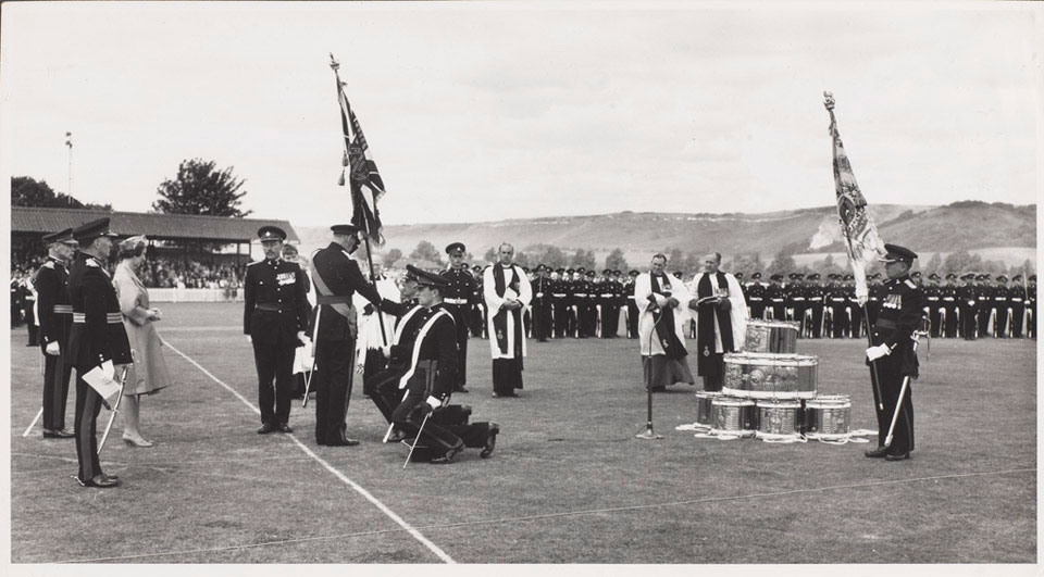 The presentation of colours to 1st Battalion The Queen's Own Buffs, Royal Kent Regiment, 23 June 1932