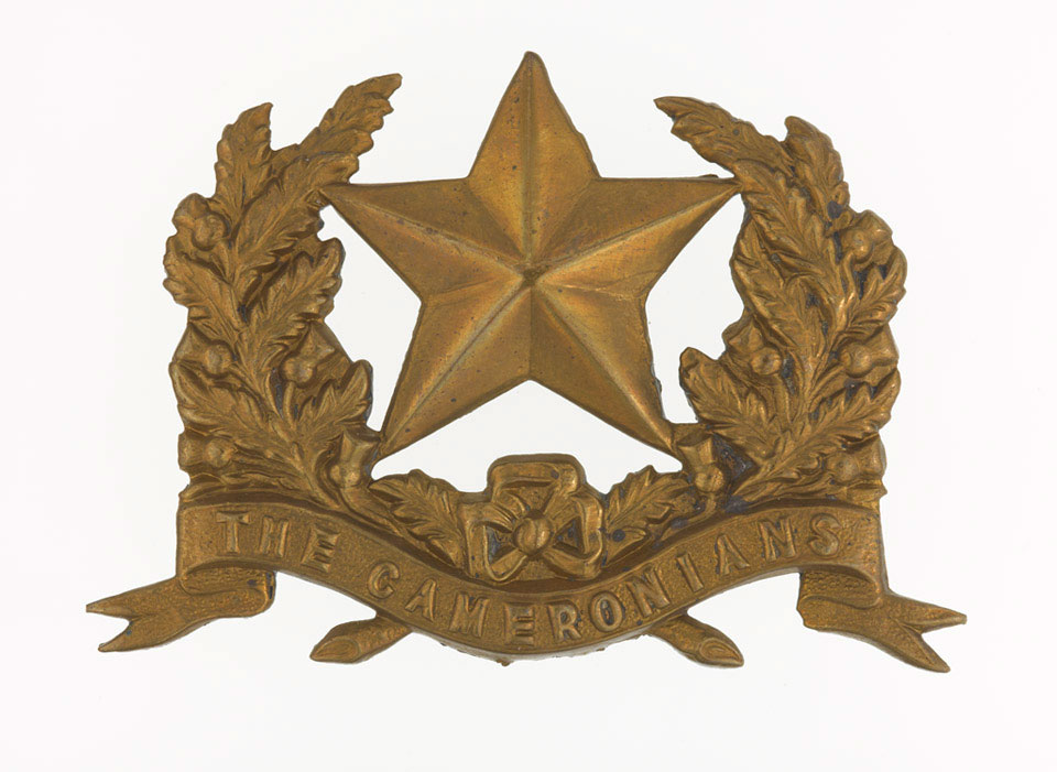 Glengarry badge, other ranks, 26th (The Cameronians) Regiment of Foot