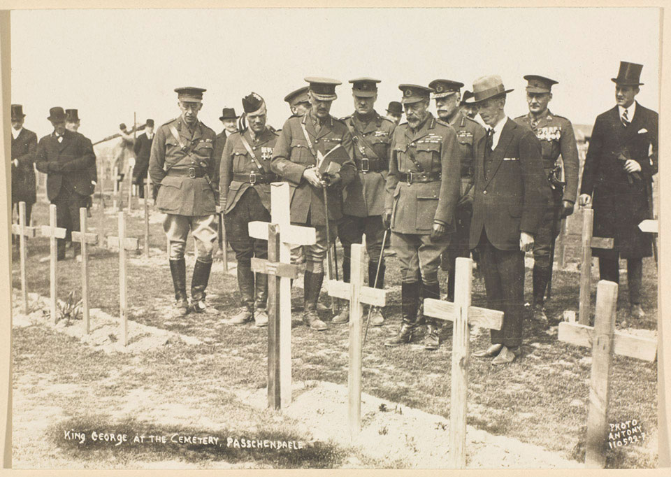 'King George at the Cemetery Passchendaele', 1922