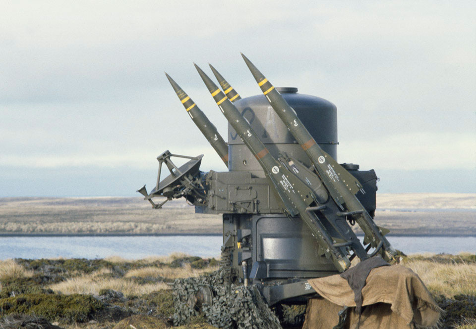 Rapier battery, San Carlos, Falkland Islands, 1982