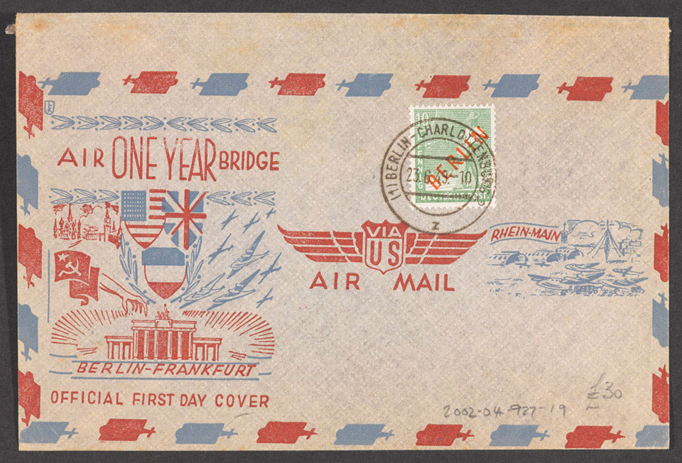 US Air Bridge Commemorative Envelope, 23 June 1949