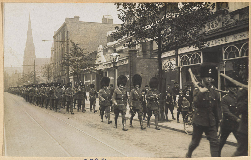 2nd Battalion The Royal Munster Fusiliers on strike duty, Birmingham, August 1911