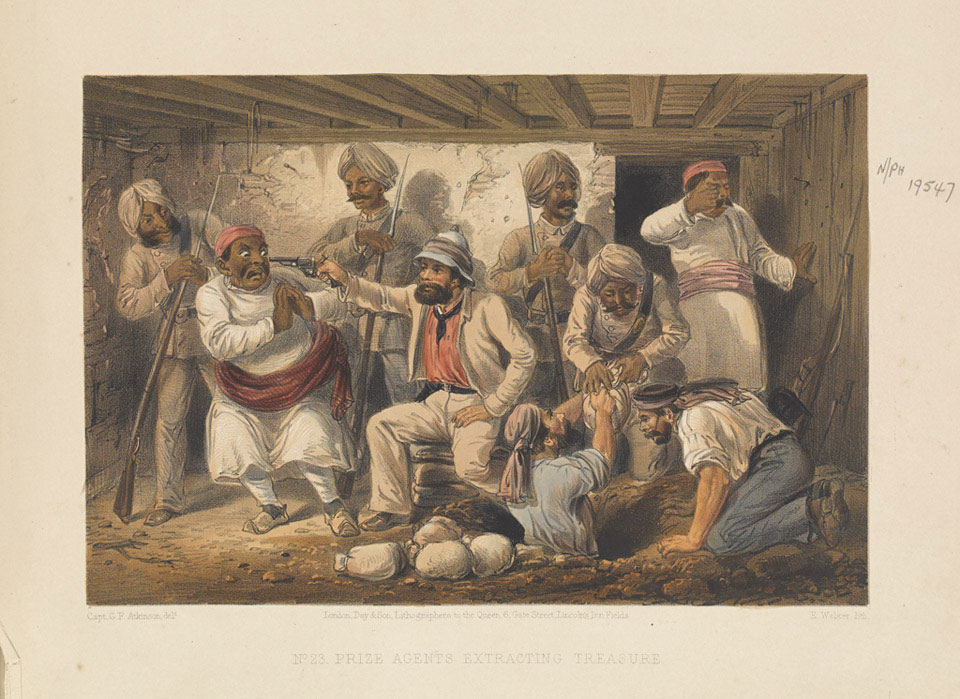 'Prize Agents extracting Treasure', September 1857 (c)