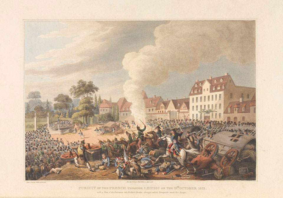 'Pursuit of the French through Leipzig on the 19th October 1813'