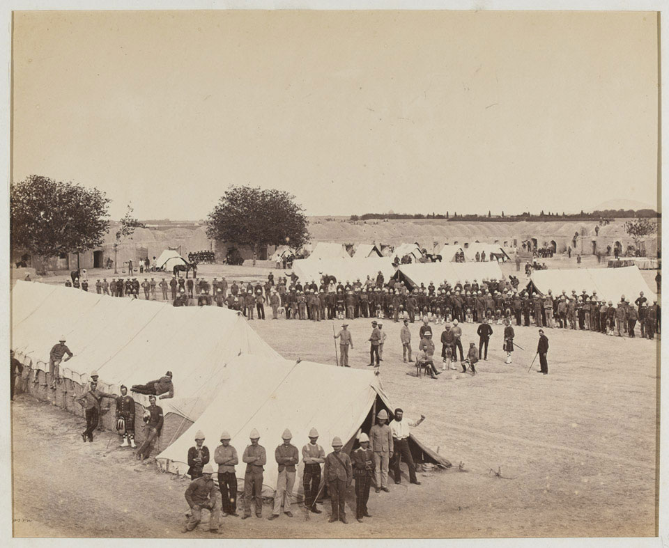 Barrack Square, 78th Highlanders, Kandahar, 1880 (c)