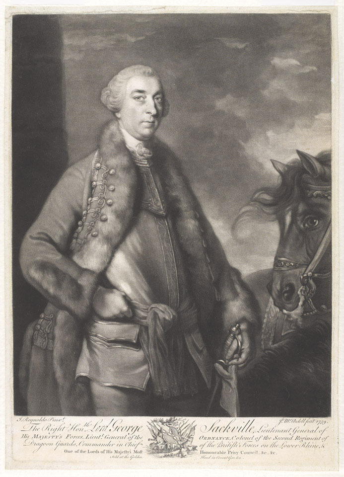 Lord George Sackville, 1759