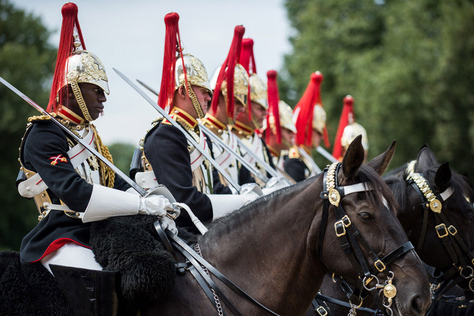 Members of the Household Cavalry Mounted Regiment, Horse Guards, London, 2016