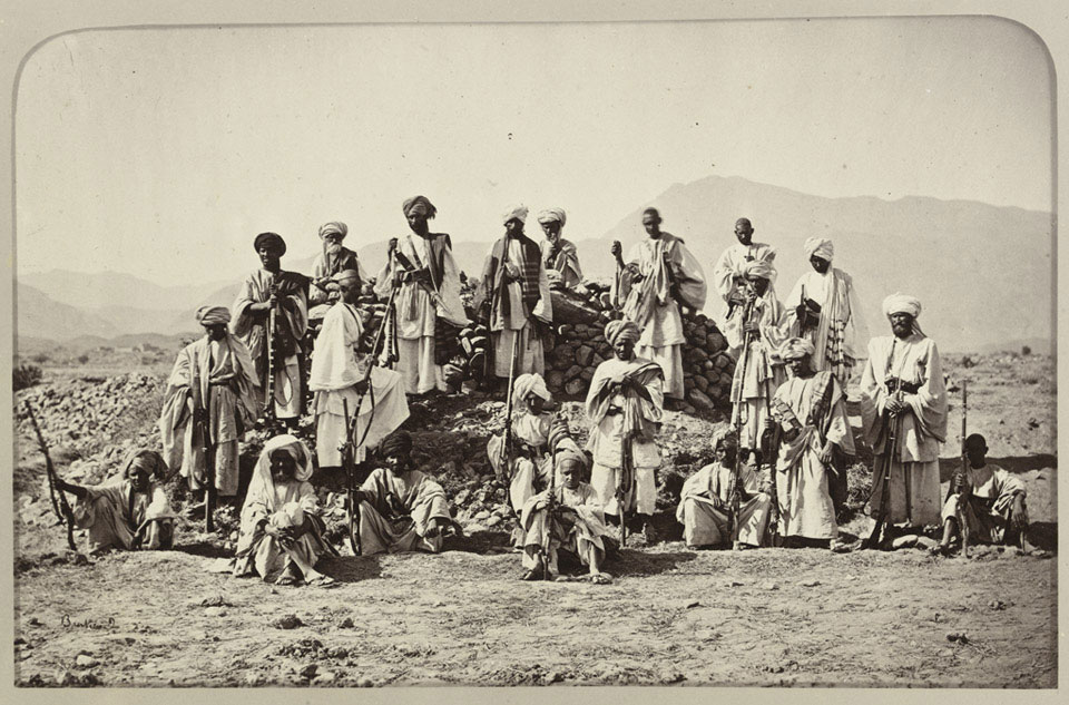 'Afridi Picket near Jumrood, Khyber and Rotass in distance', 1879 (c)