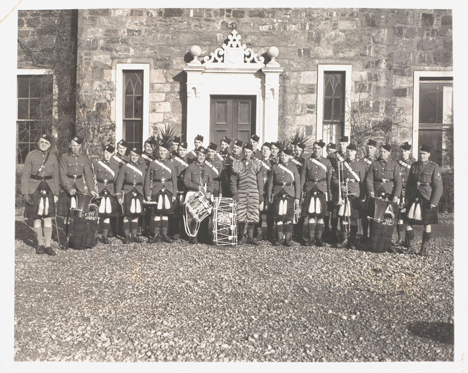The band of the Queen's Own Cameron Highlanders, February 1943