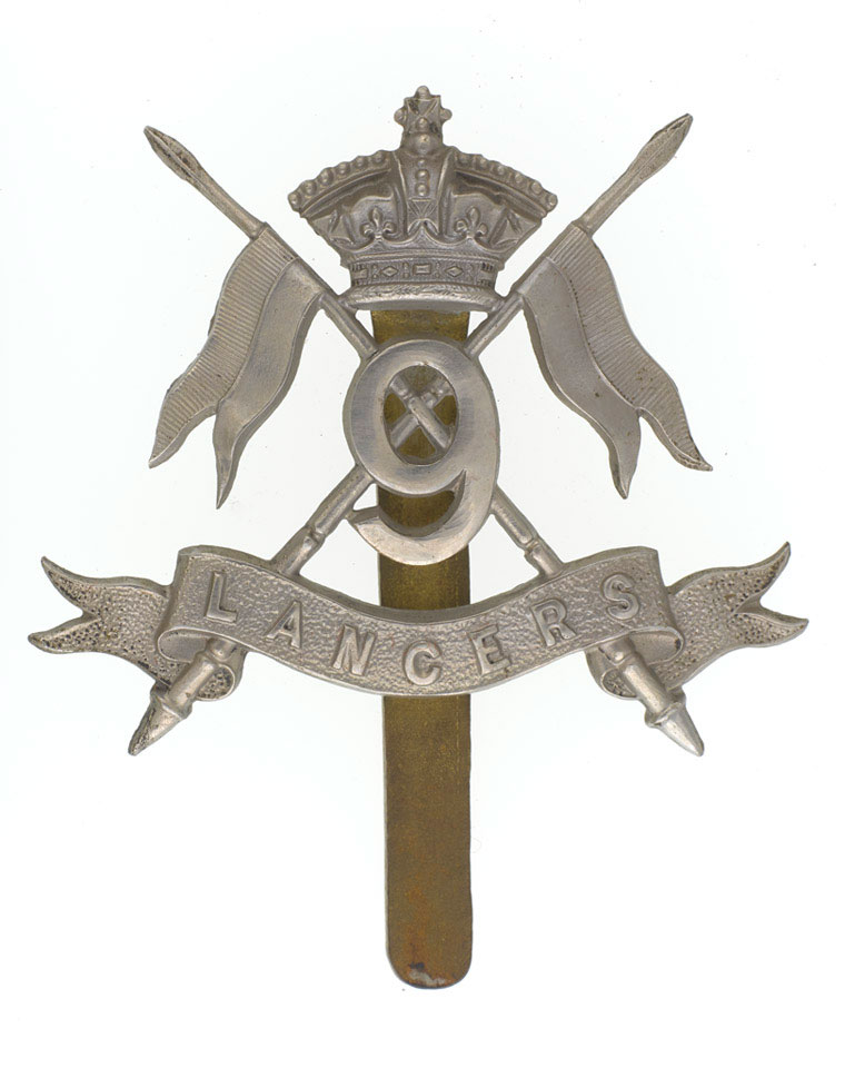 Cap badge, other ranks, 9th Queen's Royal Lancers, 1902 (c),