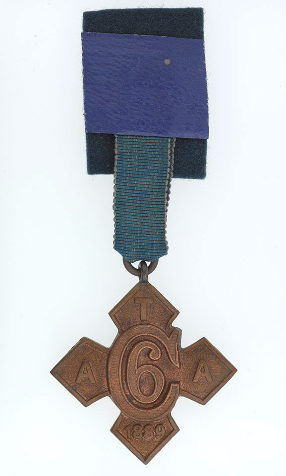 Army Temperance Association Medal, India, six months of abstinence, The Buffs (East Kent Regiment), 1889 (c)