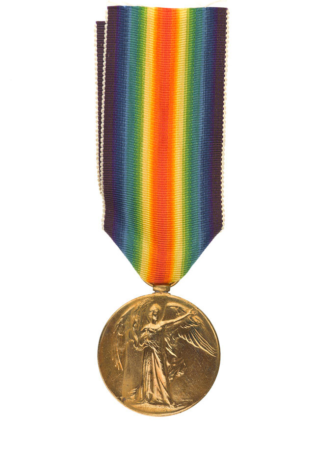 Allied Victory Medal, Lieutenant Arthur O'Brien Ffrench Blake, 10th Battalion (Yeomanry) The Buffs (East Kent Regiment)