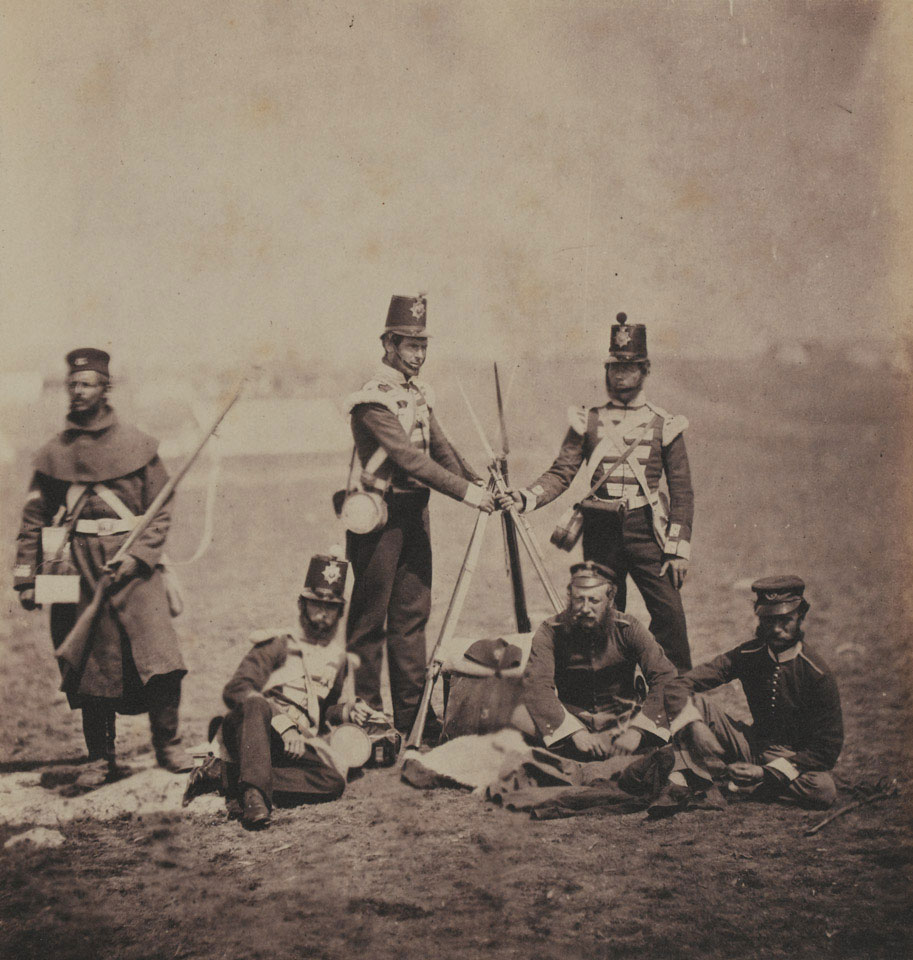 Officers and men of the 3rd (East Kent) Regiment of Foot (The Buffs), Crimea, 1855