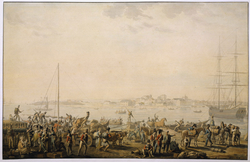 The landing of the British Army at Mondego Bay, 1808