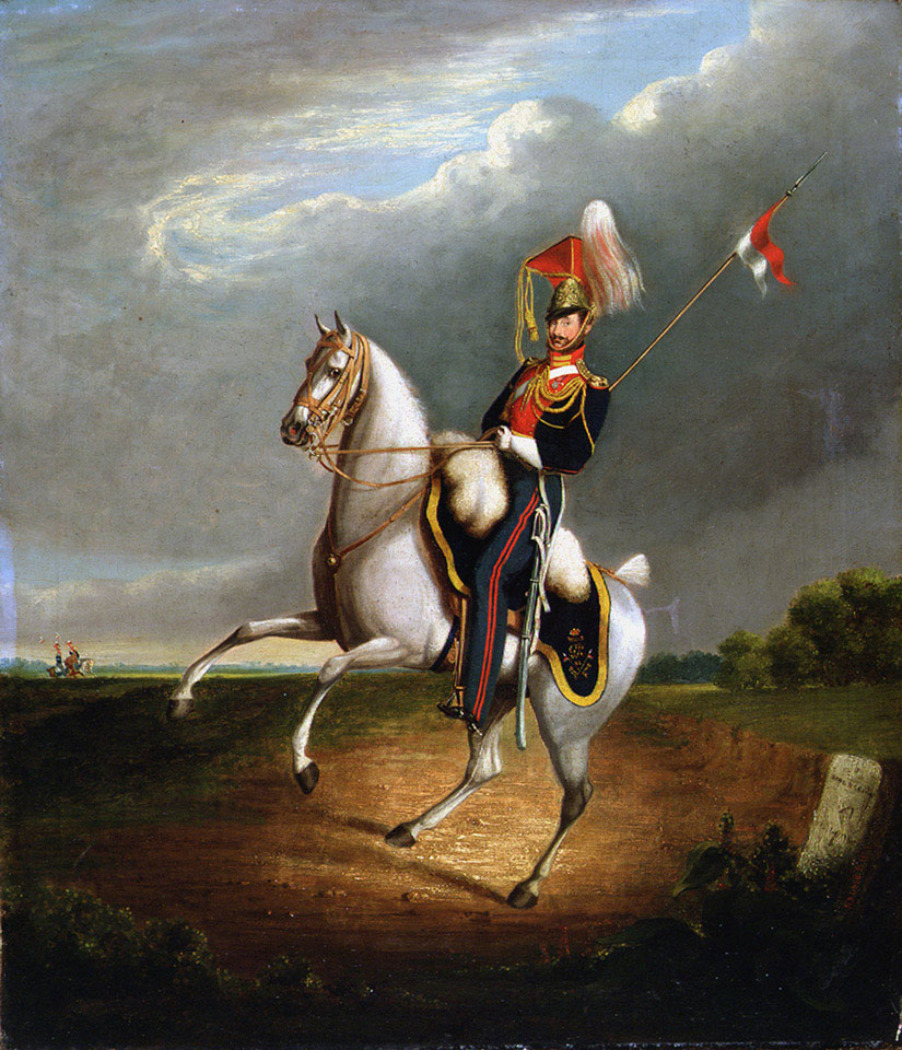 Unidentified mounted trooper, 9th Lancers, 1827