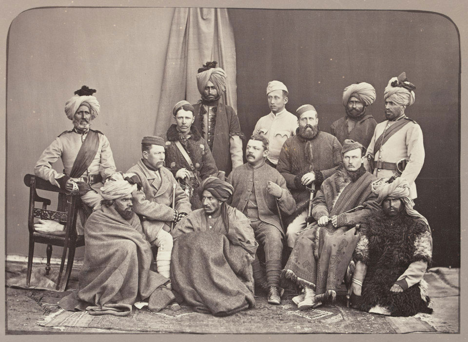 British and Native Officers, 5th Regiment of Infantry, Punjab Frontier Force, 1879
