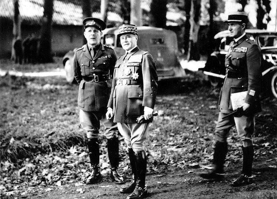 General Lord Gort and General Gamelin, 1939