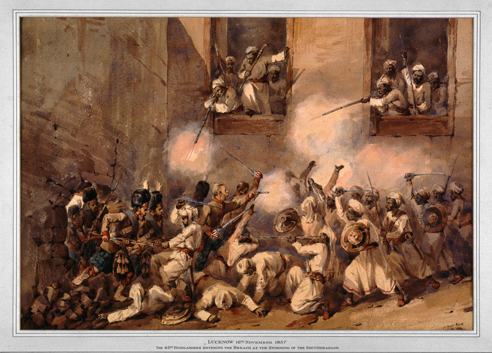 The 93rd Highlanders at the storming of the Secundra Bagh, Lucknow, 1857