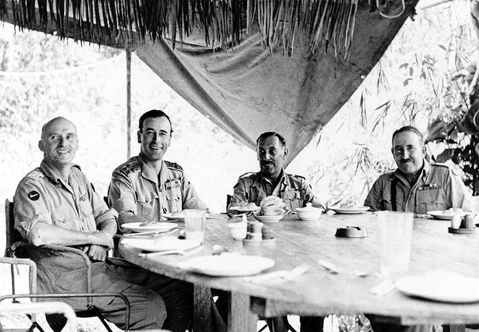 Admiral Lord Louis Mountbatten and senior officers, 1944