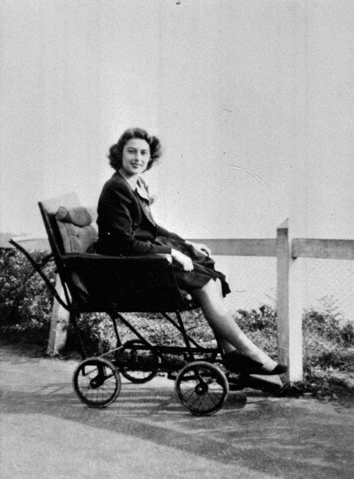 Violette Szabo recovering from an injured ankle sustained during parachute training, 1944