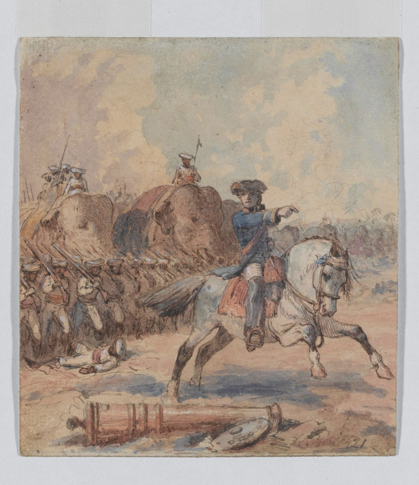 Clive at the Battle of Plassey painting by William Heath