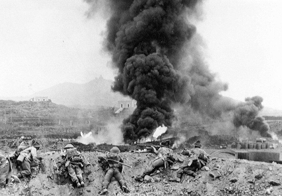 1st Battalion, The Duke of Wellington's Regiment (West Riding), in action on Pantellaria, 11 June 1943