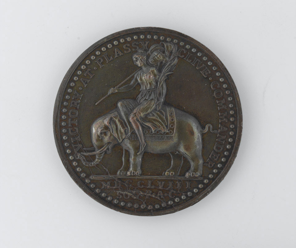 Medal commemorating Robert Clive's victory at Plassey, 1757