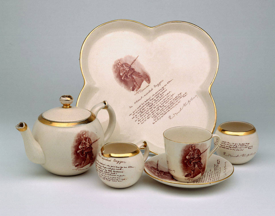 The Absent-minded Beggar' one-person tea or breakfast set, 1900 (c) |  Online Collection | National Army Museum, London