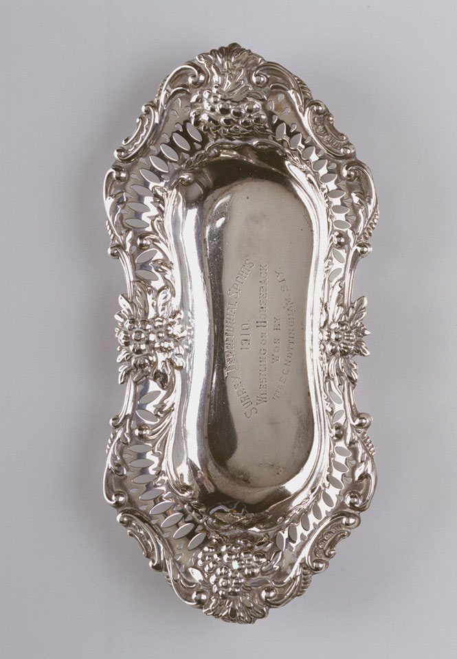 Silver dish for horse wrestling, 1910