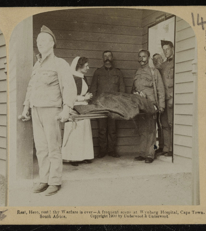'Rest, Hero, rest! thy Warfare is over - A frequent scene at Wynberg Hospital, Cape Town, South Africa', 1899 (c).
