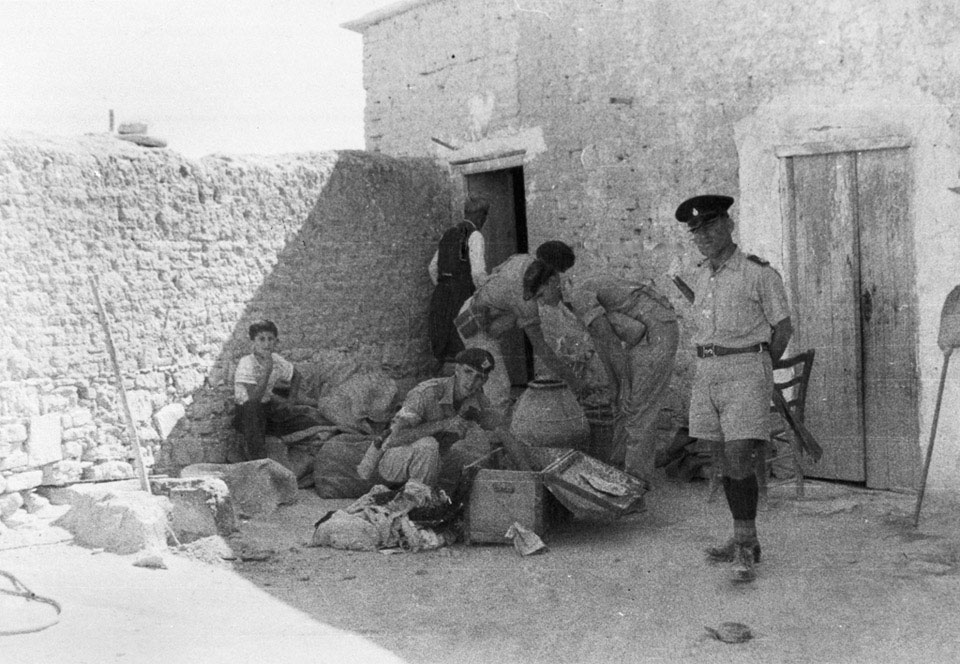 Searching a Cypriot house, 1955 (c)