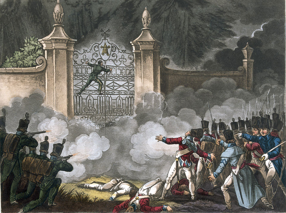 Storming the Bishops Palace at Badajoz, 1812