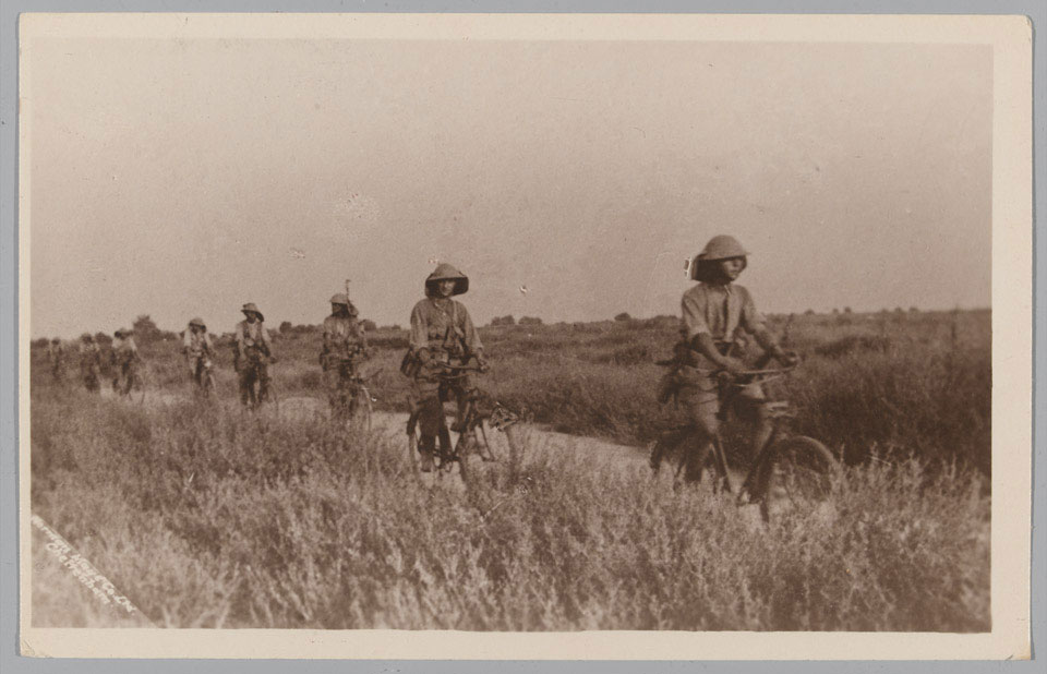 Patrolling the Struma Valley on bicycles, 1917